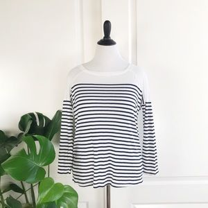 Splendid Navy / White Striped Soft Jersey T Shirt